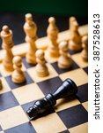 close up image of a chess board ... | Shutterstock . vector #387528613