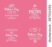 happy mother day | Shutterstock .eps vector #387531454
