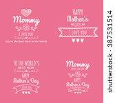 happy mother day | Shutterstock .eps vector #387531514