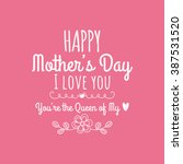 happy mother day   Shutterstock .eps vector #387531520
