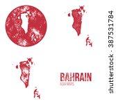 bahrain grunge retro maps  ... | Shutterstock .eps vector #387531784