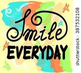 vector hand lettering poster on ... | Shutterstock .eps vector #387532108