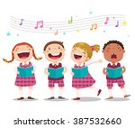 vector illustration of choir... | Shutterstock .eps vector #387532660