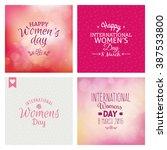 happy women day | Shutterstock .eps vector #387533800