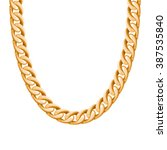 chunky chain golden metallic... | Shutterstock .eps vector #387535840