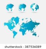 world map | Shutterstock .eps vector #387536089