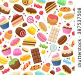 assorted sweets colorful...   Shutterstock .eps vector #387537508