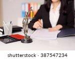 statuette of themis   the... | Shutterstock . vector #387547234