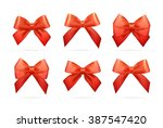 ribbons set for christmas gifts.... | Shutterstock . vector #387547420