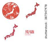 japan grunge retro maps   asia  ...   Shutterstock .eps vector #387547978