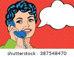 woman chatting on the phone ...   Shutterstock .eps vector #387548470