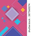 modern material design... | Shutterstock .eps vector #387560074