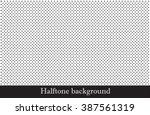 vector halftone dots pattern | Shutterstock .eps vector #387561319