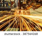 industrial welding automotive... | Shutterstock . vector #387564268
