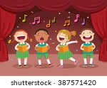 vector illustration of children ... | Shutterstock .eps vector #387571420