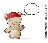 cartoon teddy bear wearing hat... | Shutterstock .eps vector #387578179