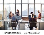 business communication... | Shutterstock . vector #387583810