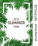 nature concept of summer... | Shutterstock .eps vector #387593128