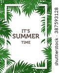 nature concept of summer... | Shutterstock .eps vector #387593128
