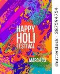 holi festival poster template.  ... | Shutterstock .eps vector #387594754