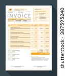 vector customizable invoice... | Shutterstock .eps vector #387595240
