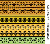 ethnic geometric print.... | Shutterstock .eps vector #387597499