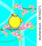 yellow bird | Shutterstock .eps vector #38760271