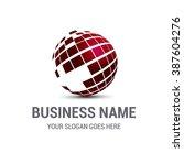 Creative Globe Logo Red...