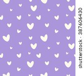 Stock vector hearts seamless pattern cute babies background heart seamless pattern babies fashion design baby 387606430