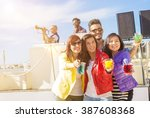 group of caucasian people are...   Shutterstock . vector #387608368
