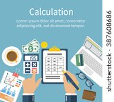 calculation concept.... | Shutterstock .eps vector #387608686