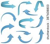 set of arrows vector... | Shutterstock .eps vector #387608803