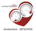 hypertension | Shutterstock .eps vector #387614920