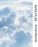 cloudscape blue sky and white... | Shutterstock . vector #387615604