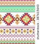 seamless stylized stripes... | Shutterstock .eps vector #387615643