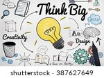 think big faith attitude... | Shutterstock . vector #387627649