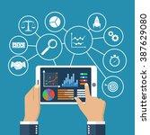 statistics concept. statistical ... | Shutterstock .eps vector #387629080