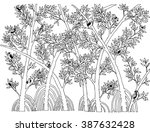 mangrove forest with bird... | Shutterstock .eps vector #387632428