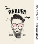 hipster barber shop business... | Shutterstock .eps vector #387639739