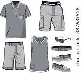 men's clothes  shirt templates... | Shutterstock .eps vector #387639958