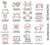 vector set of 16 icons related... | Shutterstock .eps vector #387644293