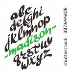 vector alphabet. hand drawn... | Shutterstock .eps vector #387644608