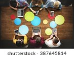 students connection digital... | Shutterstock . vector #387645814