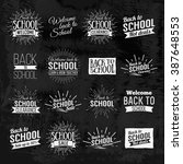 back to school calligraphic... | Shutterstock .eps vector #387648553