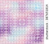 vector seamless geometric... | Shutterstock .eps vector #387651814