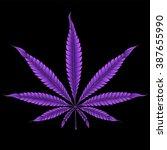 Abstract Purple Marijuana Leaf...