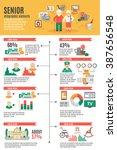 infographic poster of senior... | Shutterstock .eps vector #387656548