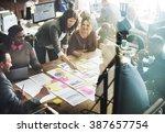 business people meeting... | Shutterstock . vector #387657754