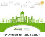ecology connection concept... | Shutterstock .eps vector #387663874