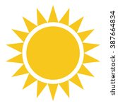 Yellow Sun Burst Icon Isolated...